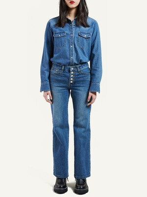 CHARLOTTE BOOTS CUT DENIM PANTS