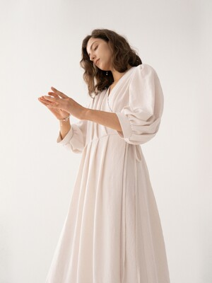 SS21 Robe Dress Cream
