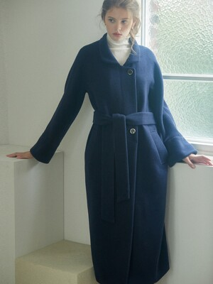 double cashmere-blend Raglan coat