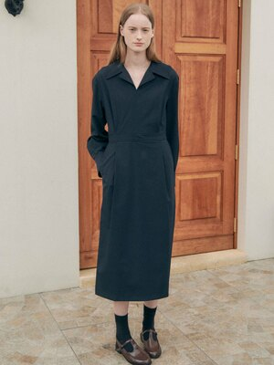 Wide Collar Shirts Dress SW1SO112-23