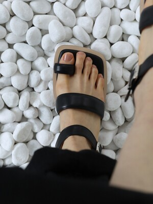 [단독]PD LOW SANDAL_black_21051