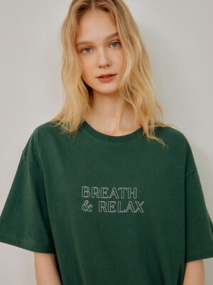 GREEN BREATH&RELAX OVERSIZE TSHIRT