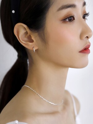 [SILVER925] Daily cut earring