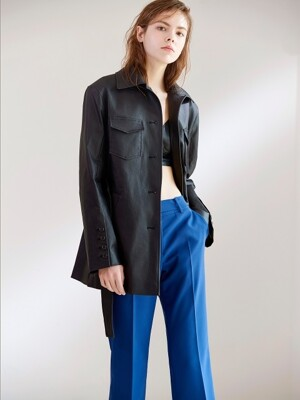 STRAIGHT-LEG TROUSERS COBALT BLUE