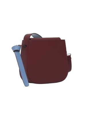 COLOR BLOCK BAG - BIG BURGUNDY