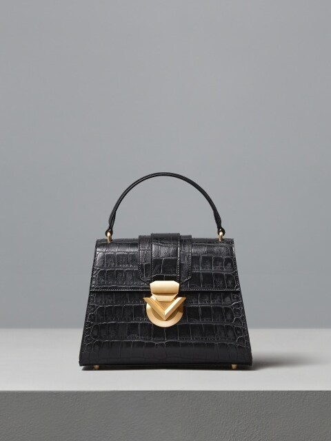 VOULOIR CROCO BAG [BLACK]