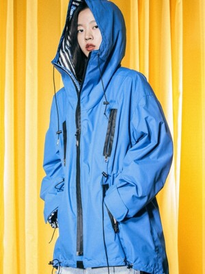 UTO-SS13 ample space hoody rain coat[blue(UNISEX)]