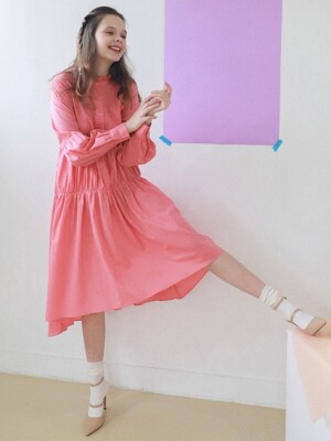 Blooming Dress_Coral Pink Color