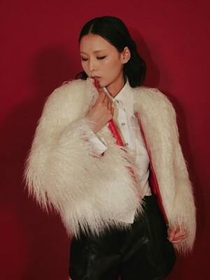 19 F/W PU MONGOLIAN LAMB FUR JACKET WOMEN