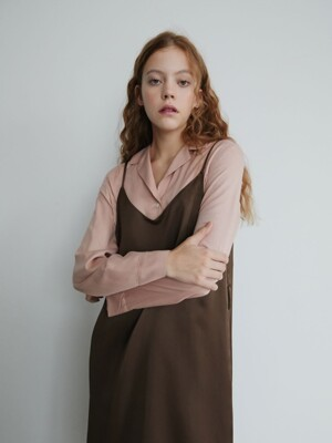 19' FALL_Dustypink basic Blouse