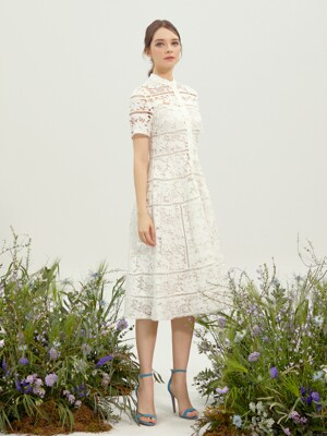 VENTUS / Race Texture Dress (off white)