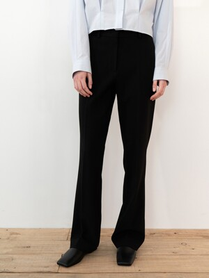 FLARED TAILORED TROUSERS (BLACK)