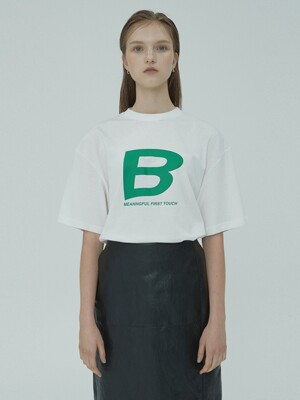 B LOGO T-SHIRT WHITE