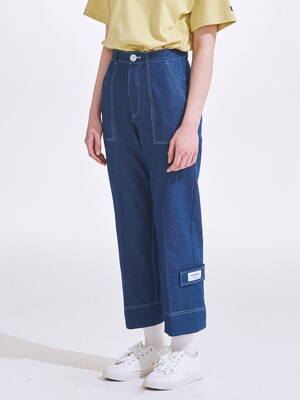 STITCH WIDE PANTS BL