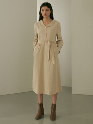 comos'421 one button trench one piece (light beige)