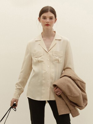 MOKDONG Two pocket shirt (Cream)