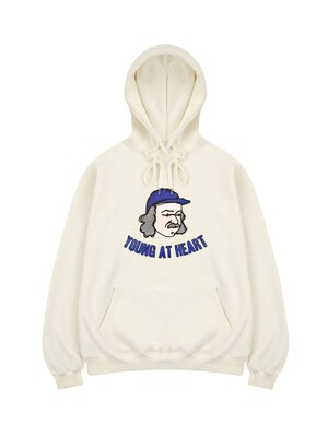 Young at heart hoodie cream
