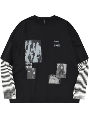 Patch-work Layered Long Sleeve (FU-166)