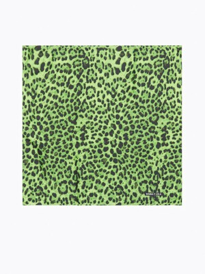 Green animal print bandana_B215AIF008GN