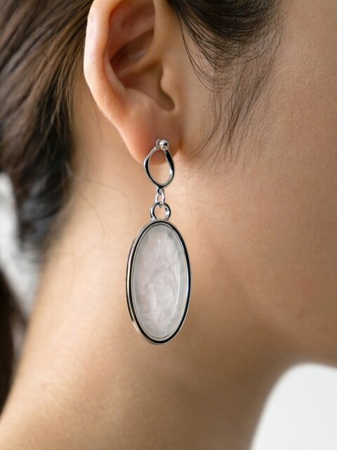 Silver Ball & Marble Earring