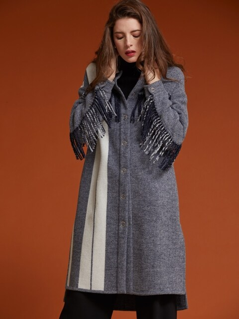 FRINGE LINE LONG COAT [AR-CO-001]
