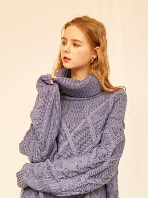 monts826 twist turtleneck knit (sora)