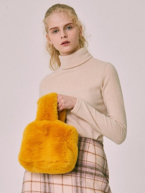 FUR BAG(YELLOW)