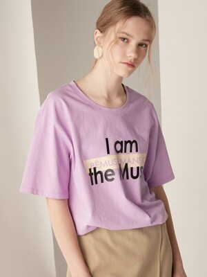 Graphic short sleeve tee - Light purple