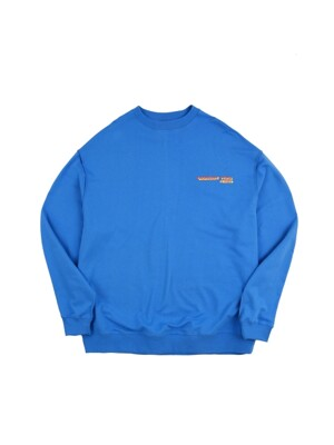 vintage logo blue sweat shirt