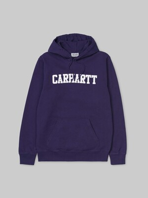 HOODED COLLEGE SWEATSHIRT_ROYAL VIOLET/WHITE