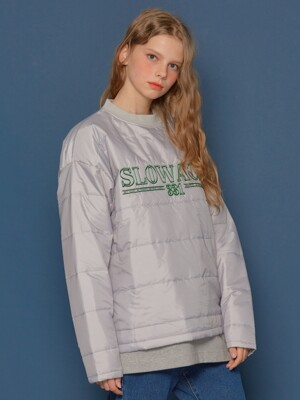 Padding Sweatshirt (PALE GREY)