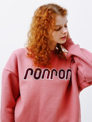 BOUCLE LOGO POINT SWEATSHIRT INDIPINK