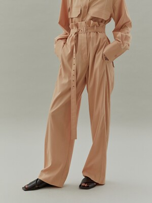 20SS HIGH WAIST PANTS - PEACH