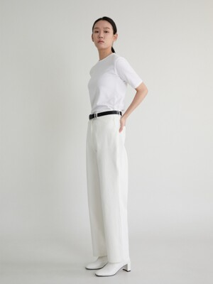 20S STRAIGHT COTTON PANTS (WHITE)