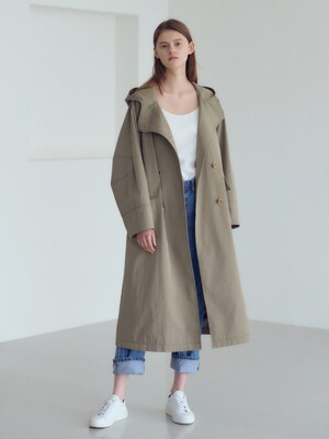 20SN hoody trench coat [K/BE]