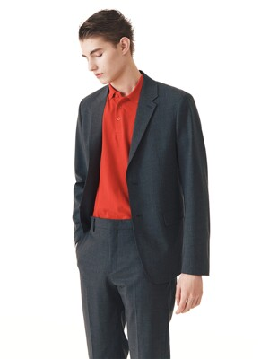 Lightweight Slim-fit Italian Fabric Suit Jacket +  Tapered Trousers SET