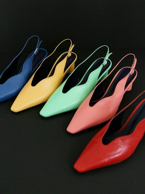 [at SALONDEJU][AT20S01] Wave Slingback - Vivid