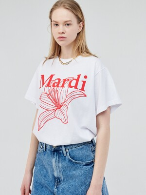 BELLE DE JOUR SHORT SLEEVE WHITE-RED