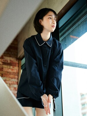 LINE COLLAR SHIRT [NAVY]