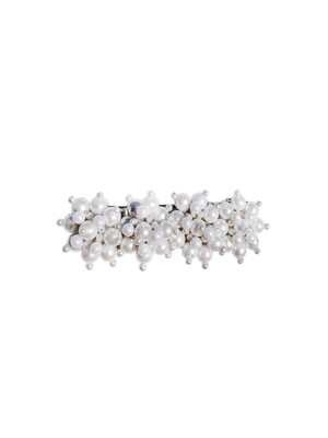 white quadruple hair clip