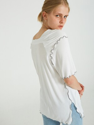 NEW SOFFY V-LINE T-SHIRTS_WHITE