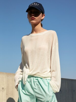SEE-THROUGH 2 WAY T-SHIRT IVORY  UDTS0E222IV