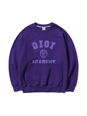 POCKET VARSITY SWEATSHIRTS [PURPLE]