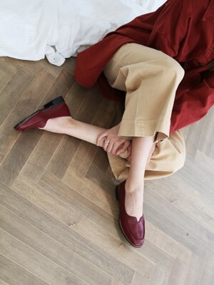 T004 voca loafer wine (1.5cm)