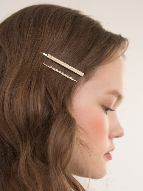 Two Line Pearl Hairpin