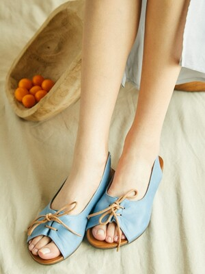 Ribbon String Sandal_Dusty Blue