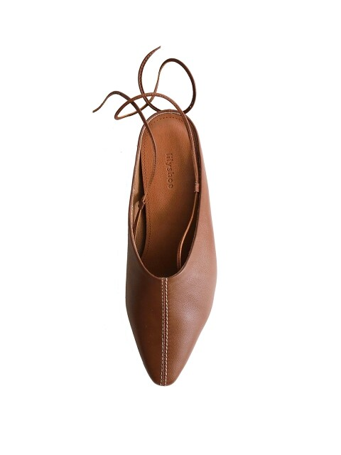 page strap mule - brown