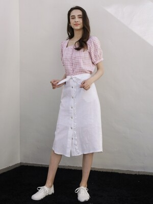 FRILL SHIRT SKIRT WHITE