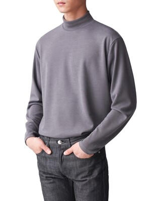 Mock Neck Sweater Charcoal