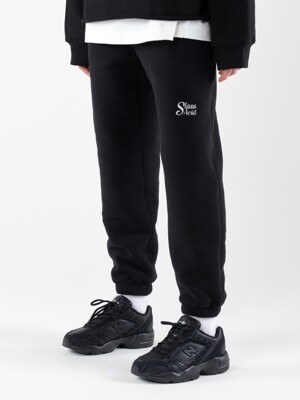 19WT Heavy Fleece Traning Pants (BLACK)